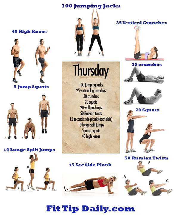 pinterest exercises dissected thursday fit tip daily