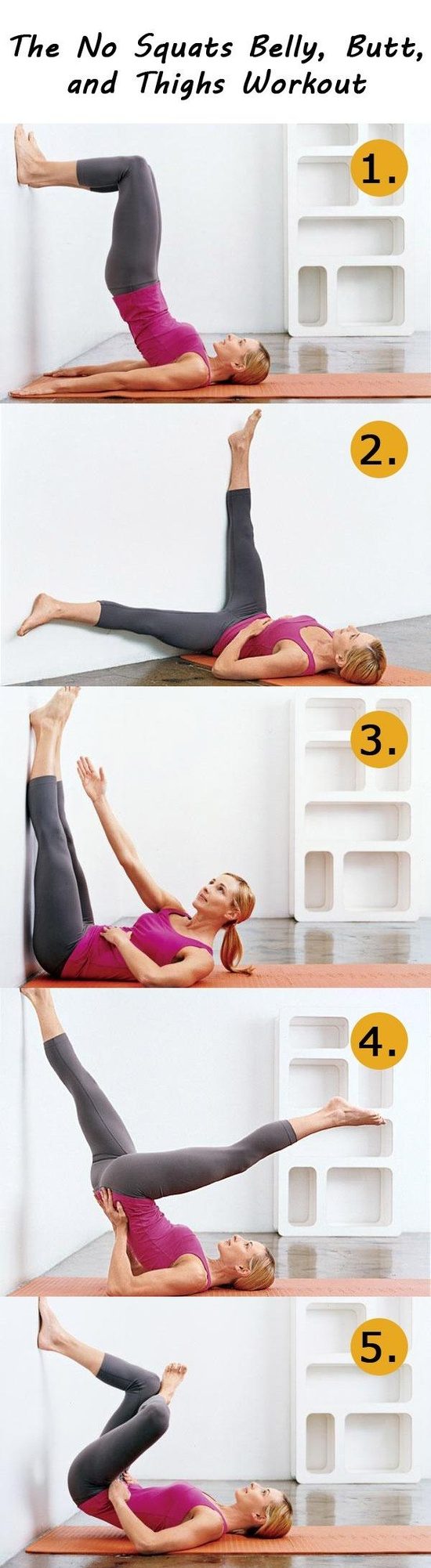 belly, butt and thigh workout