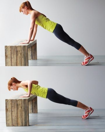 bench pushups