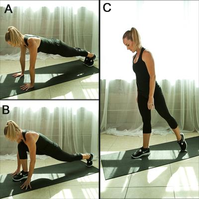 plank to stand