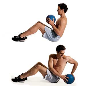 medicine ball ab exercises