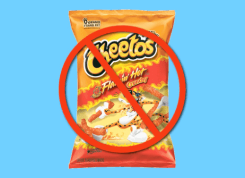 ban on flamin hot cheetos