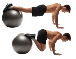 ball lower ab crunch