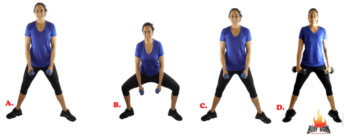 Sumo squat with calf raise
