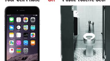 cell phone germs worse then toilette