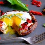 portabello with baked eggs
