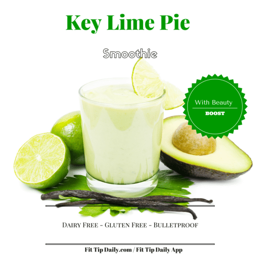 low carb key lime pie smoothie