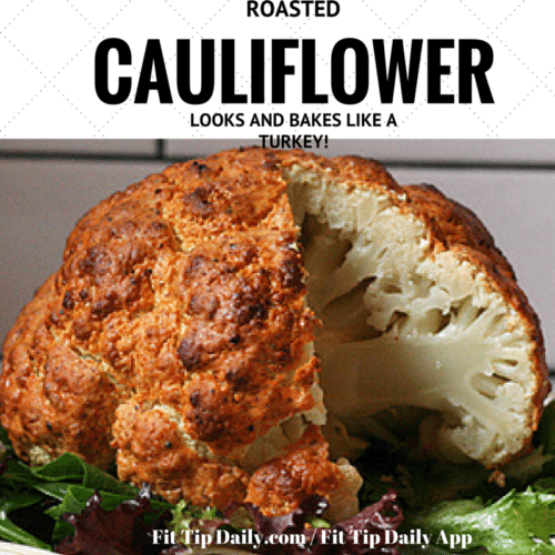 roasted cauliflower looks like a turkey
