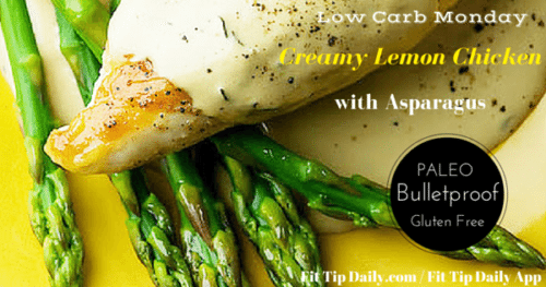 creamy lemon chicken with asparagus