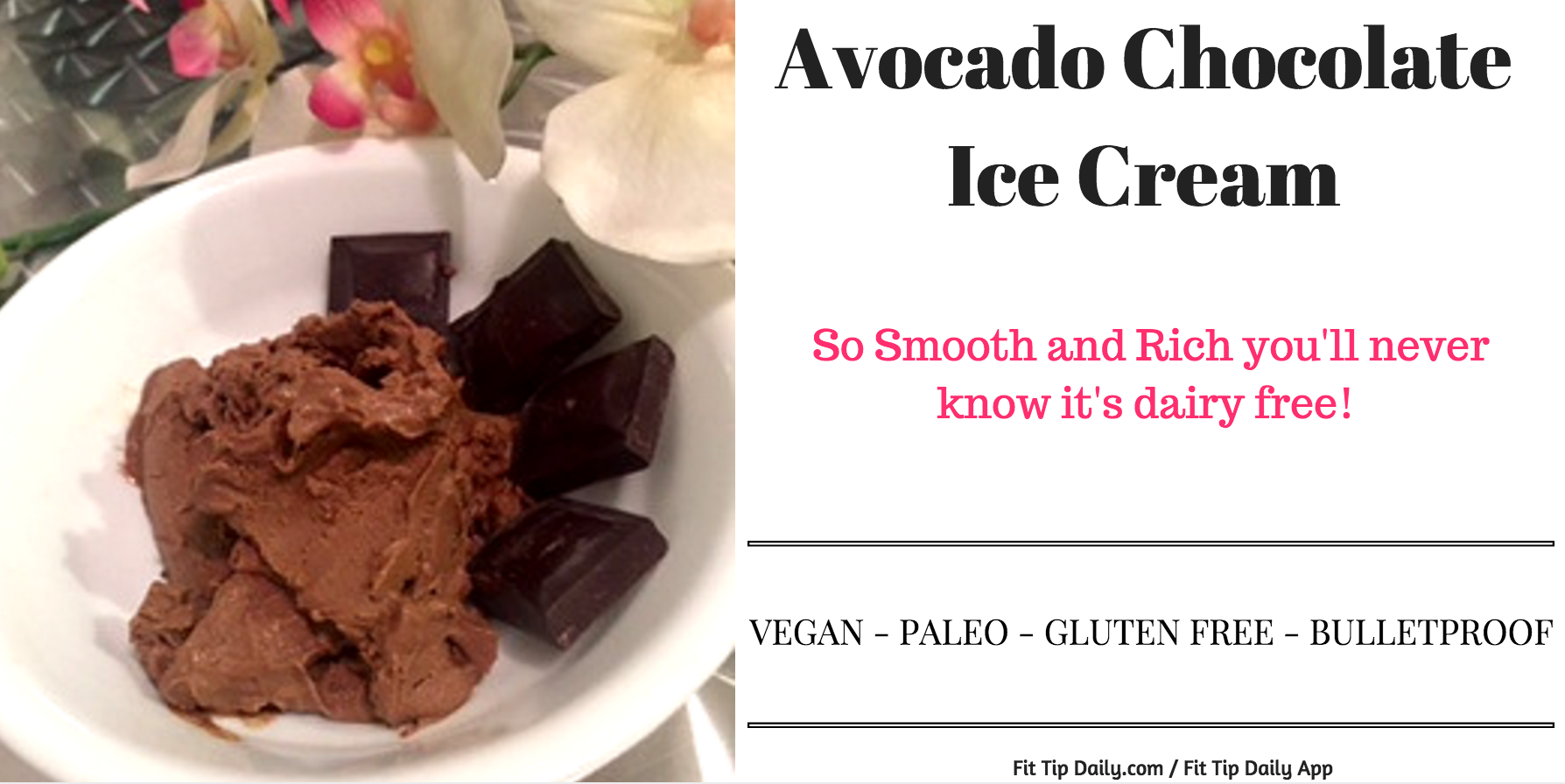 Low Carb Monday - Vegan Chocolate Avocado Ice Cream - Fit Tip Daily
