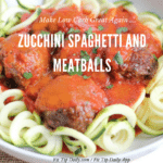 Low Carb Monday –  Zucchini Noodles and Meatballs