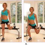 Bench Lunge For Hot Thighs