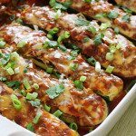 Paleo Chicken Enchilada Zucchini Boats