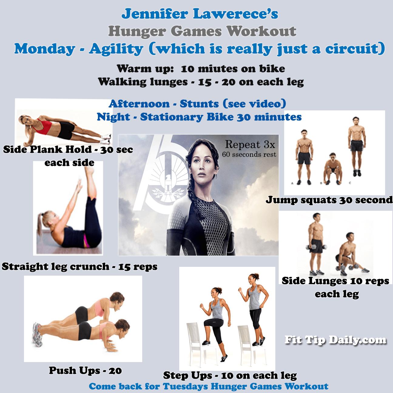 Workout Games: Jennifer Lawrence's Workout