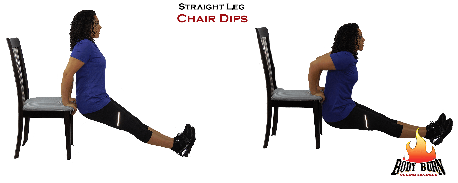 Exercise of the Week - Straight Leg Chair Dip - Fit Tip Daily
