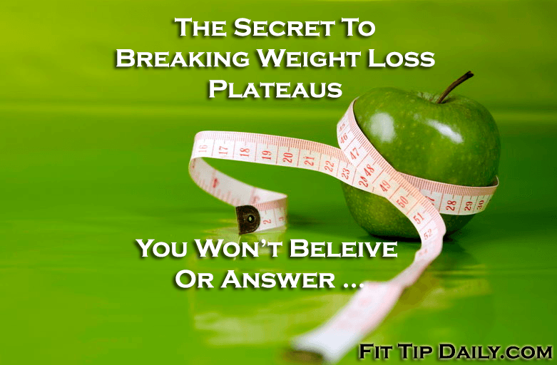 plateaus in weight loss