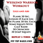 Weekend Workout Routine – Bring Out Your Inner Warrior