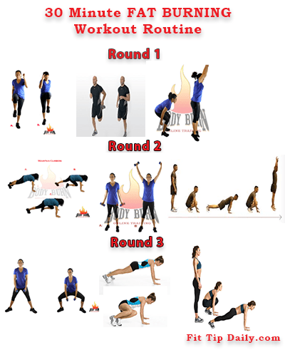 30 minute fat burning workout routine  fit tip daily